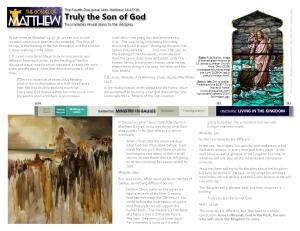 MT 14b Son of God